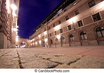 老 鎮, 斯德哥爾摩, 瑞典, 夜間