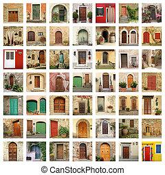 老, 門, 牆紙, 做, ......的, 圖像, 從, italy