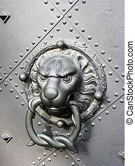 老, 門, 由于, 獅子, 頭