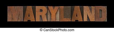 老, 馬里蘭, 木頭, 類型