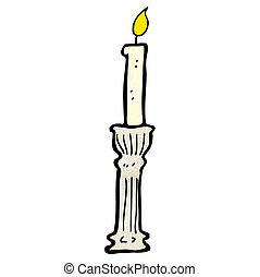 老, candlestick, 卡通
