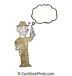考え泡, 漫画, 保安官, textured