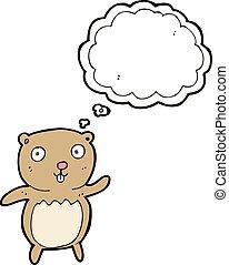 考え泡, 漫画, 熊, テディ