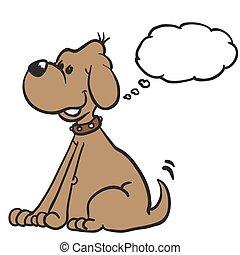 考え泡, 犬