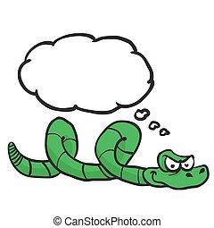 考え泡, 緑のヘビ