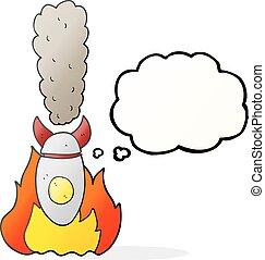考え泡, 落ちる, 爆弾, 漫画