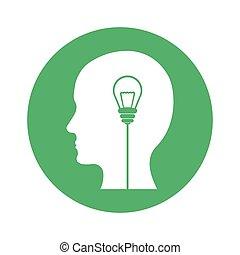 考え, イメージ, デザイン, 考え, 数字