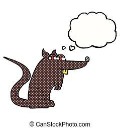 考え, ネズミ, 泡, 漫画, 悪