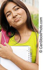 考え, ペルー人, 学生, 若々しい, ティーネージャー