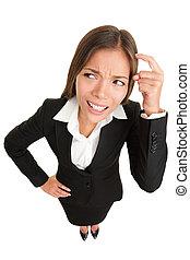 考え, 人々, -, 女性実業家