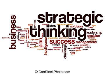考え, 単語, 雲, 戦略上である