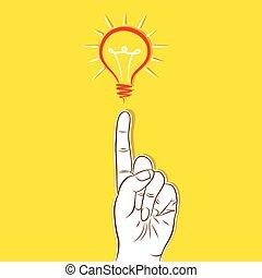 考え, 新しい, 概念, デザイン