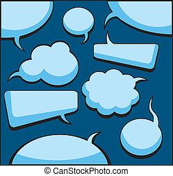 考え, 泡, スピーチ
