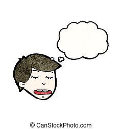 考え, 男の子, 漫画