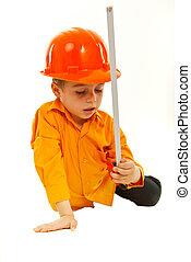 考え, 男の子, 道具, 保有物, 測定