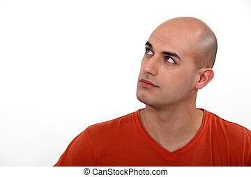 考え, 禿げた 人