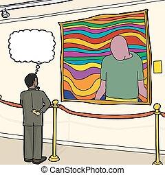 考え, 見る, 芸術, 人
