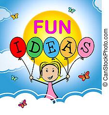 考え, 計画, 楽しみ, 幸せ, 考えなさい, ショー