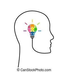 考え, 計画, 概念, 創造的, 戦略上である