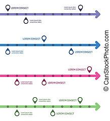 考え, infographic, デザイン, t, template.