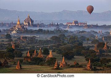 考古学的, 地域, -, bagan, ミャンマー