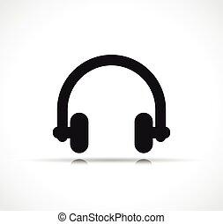 耳机, 矢量, 设计, 符号, 图标