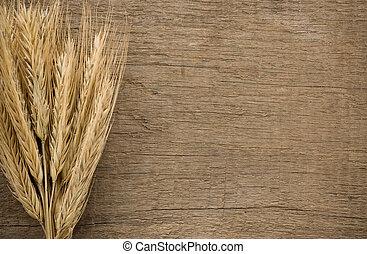 耳, 木, 小麦, 手ざわり, スパイク