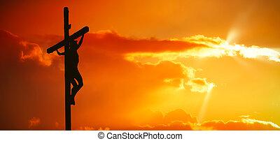 耶穌 christ 對角地
