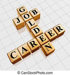 职业, 金色, 工作, 拼字游戏