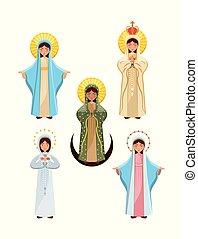 聖女瑪麗亞, 圖象