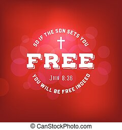 聖書, キリスト教徒, ポスター, 活版印刷, 無料で, 息子, 節, bokeh, ジョン, 新約聖書, 背景, セット, 交差点, あなた, 新しい, もし