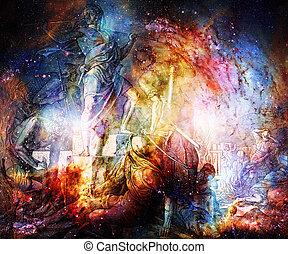 聖書, コラージュ, 町, 保護である, nazareene, 学校, trnava, 出版された, 1937., 神聖, st.vojtech, 回復, 彫版, スロバキア, 出版, 壁, グラフィック