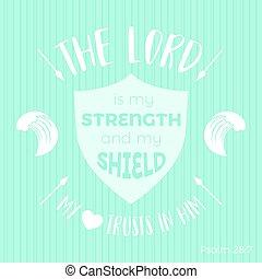 聖書, 保護, ポスター, 引用, 印刷である, ∥あるいは∥, tシャツ, 印刷, 使うこと, 主, 私, 力