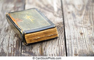 聖書, 古い, 神聖, 信頼, 祈る, -, 本
