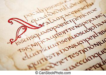 聖書, 抜粋, 手書き