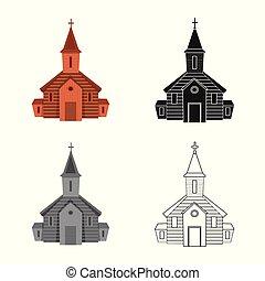 聖書, illustration., 正統, 印。, オブジェクト, 隔離された, コレクション, ベクトル, 教会, 株