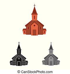 聖書, stock., 正統, 印。, コレクション, ベクトル, デザイン, 教会, アイコン