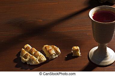 聖杯, ワイン, bread