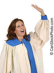 聖歌隊, 女, ローブ, 称賛すること, 2, 神