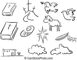 聖經, 心不在焉地亂寫亂畫