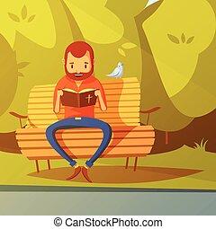 聖經, 閱讀, 插圖, 人
