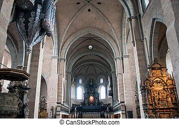 聖者, ドイツ, 内部, ピーター, trier, 大聖堂