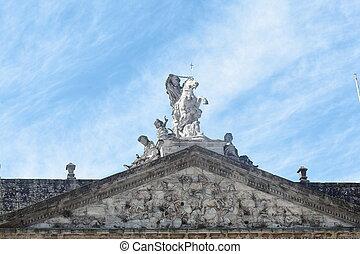 聖者, santiago., ジェームズ, サンティアゴ, 像, 使徒, 彫刻, 乗馬者