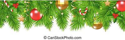 聖誕節, 冷杉 樹, 邊框