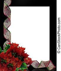 聖誕節, 帶子, 框架, 邊框