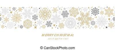 聖誕節, 插圖, 矢量, 卡片, 雪花, 邊框