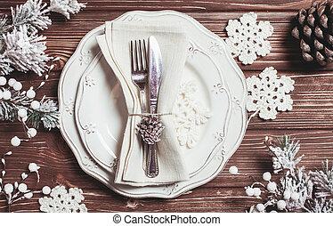 聖誕節, 服務, 桌子