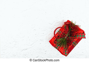 聖誕節, 松樹, 紅色, 禮物, 錐形物, 銀, 背景, 角