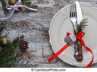 聖誕節, 桌子, 餐具