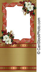 聖誕節, 相片, 卡片, 花卉疆界